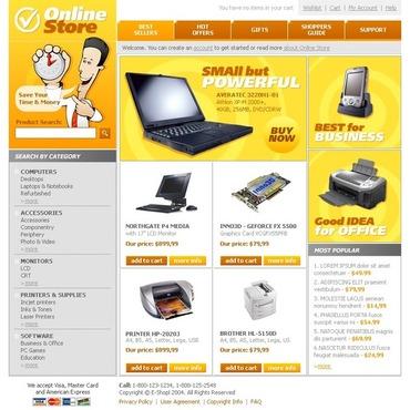 Computer Store SWiSH Template