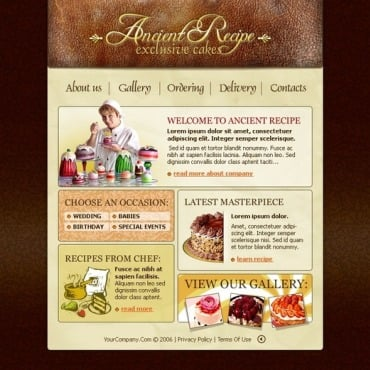 Sweet Shop Flash Template