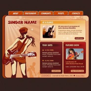 Singer Flash Template