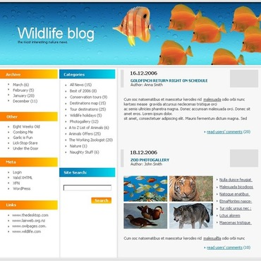 Wild Life WordPress Theme
