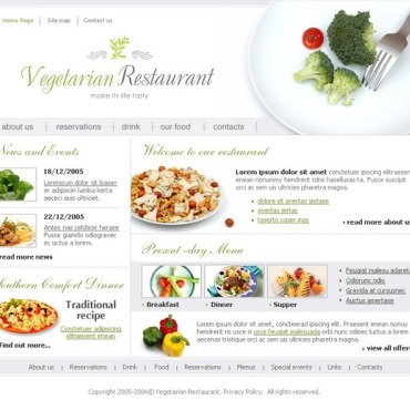 Vegetarian Restaurant SWiSH Template