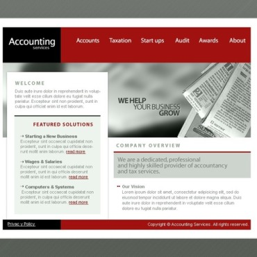Accounting Website SWiSH Template #12506