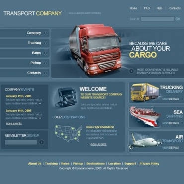 Transportation PhpBB Template