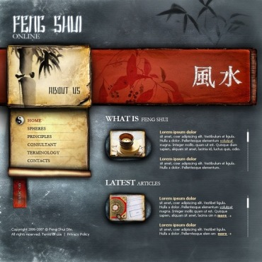Feng Shui Flash Template