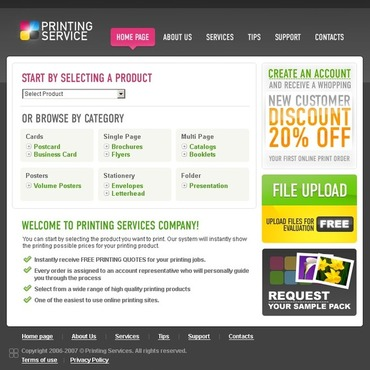 Print Shop Website Template