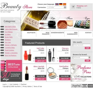 Cosmetics Store CRE Loaded Template