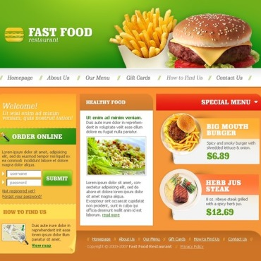Fast Food Restaurant SWiSH Template