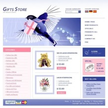 Gifts Store ZenCart Template