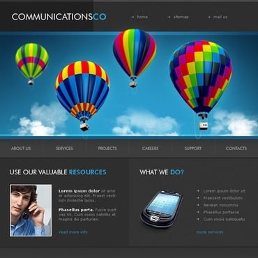 Communications Flash Template