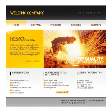 Welding Website Template