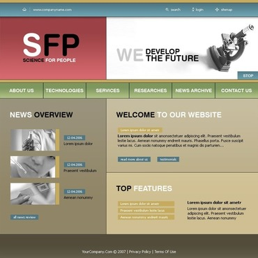 Science Website Template