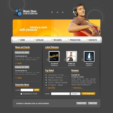 MP3 Store SWiSH Template