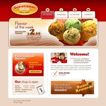 Ice Cream Website Template