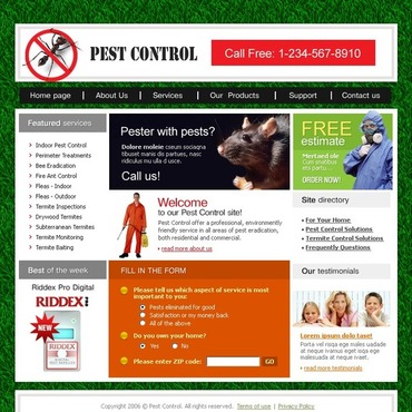 Pest Control SWiSH Template