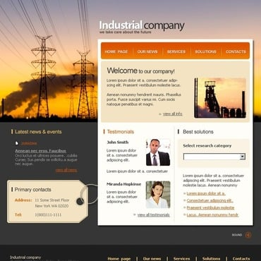 Industrial SWiSH Template