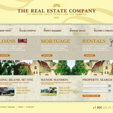 Real Estate Agency SWiSH Template