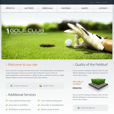 Golf Website Template