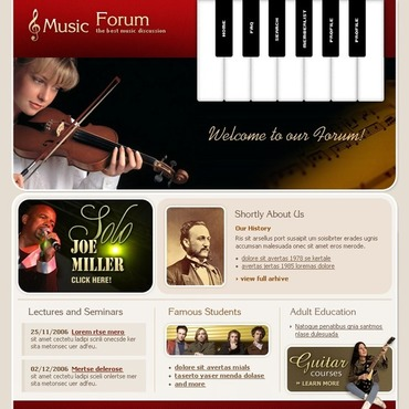 Music School PhpBB Template