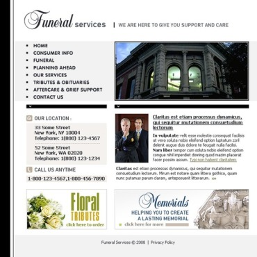 Funeral Services Website Template