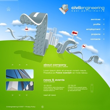 Civil Engineering Flash Template