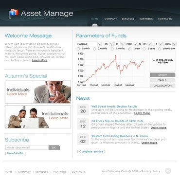 Investment Company SWiSH Template