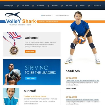 Volleyball Website Template