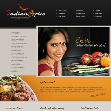 Spice Shop Website Template