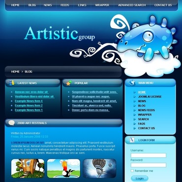 Art Studio Joomla Template