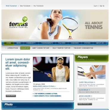 Tennis Website Template