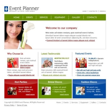 Event Planner SWiSH Template