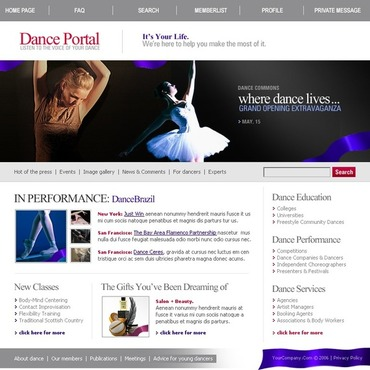 Dance Studio PhpBB Template