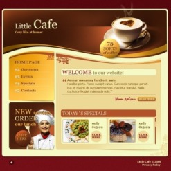 Cafe Flash Template