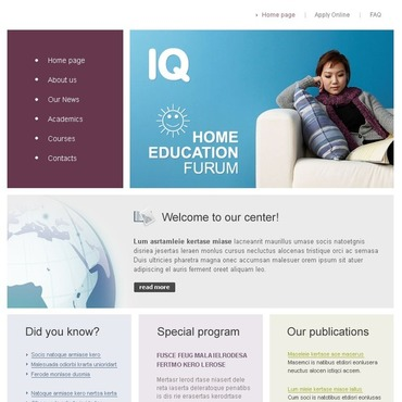 Education PhpBB Template