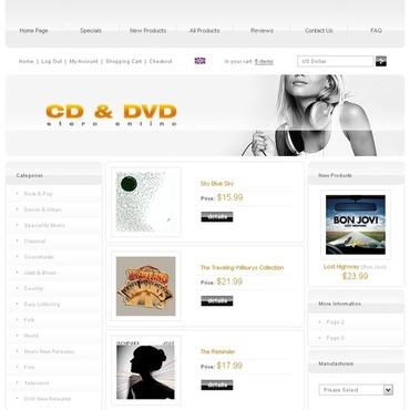 DVD Store Responsive ZenCart Template
