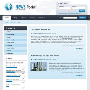 News Portal Drupal Template