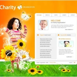 Charity Flash Template