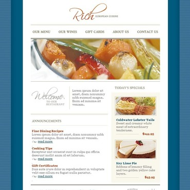 European Restaurant SWiSH Template