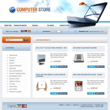 Computer Store OsCommerce Template