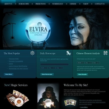 Fortune Teller Website Template