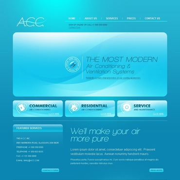Maintenance Services Website Template
