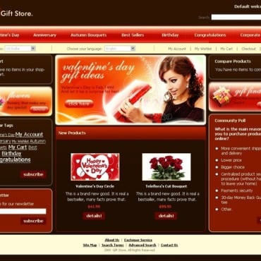 Gifts Store Magento Theme