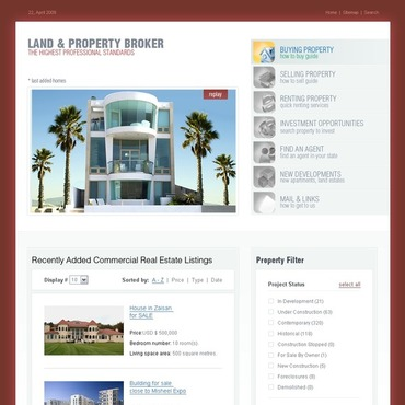 Land Broker Website Template