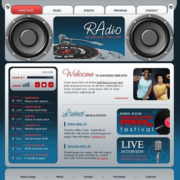 Radio Website Flash Template