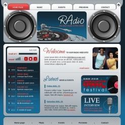 Radio Website Flash Template