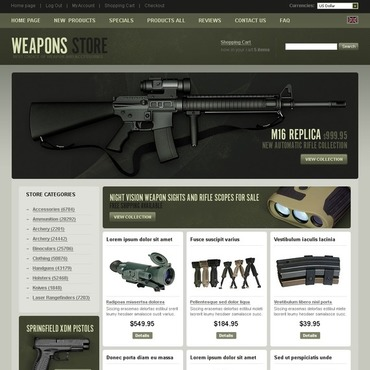 Gun Shop ZenCart Template
