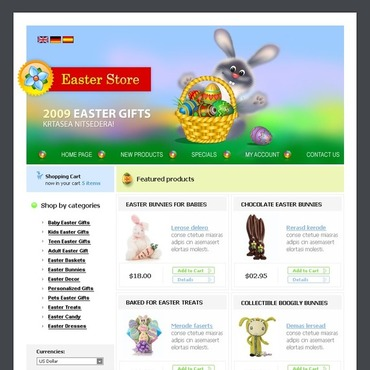 Easter Gifts Store OsCommerce Template