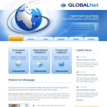 Communications Website Template