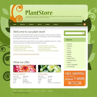 Flowers Website Template