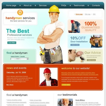 Home Repairs Website Template