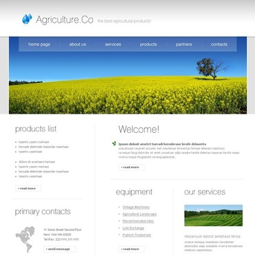 Agriculture SWiSH Template